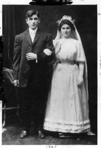 Wedding photograph  of Eastern European Immigrants in Philadelphia