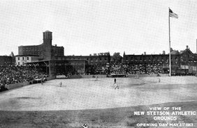 View of the New Stetson Athletic Grounds, Opening Day May 3rd 1913
