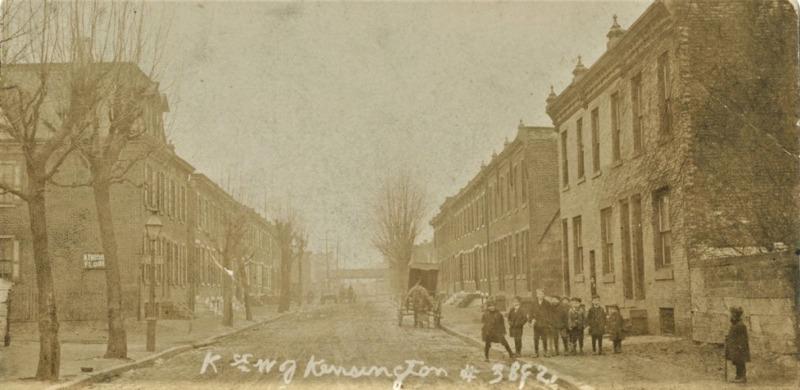 K Street west of Kensington Avenue