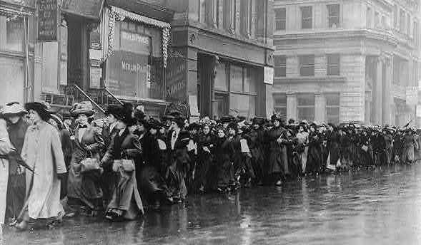 Suffragists Parading