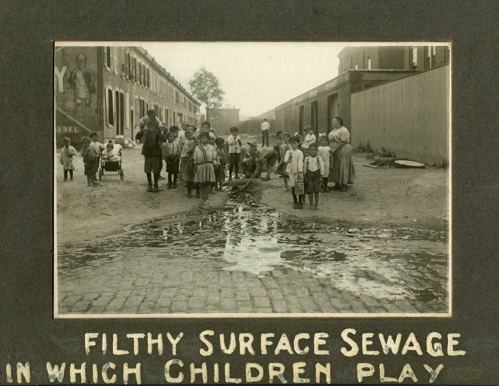 Filthy Surface Sewage