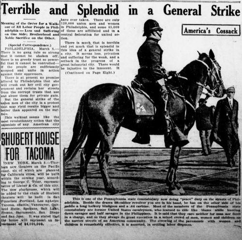 Terrible and Splendid in a General Strike
